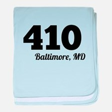 Area Code 410 Baltimore MD baby blanket