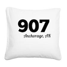 Area Code 907 Anchorage AK Square Canvas Pillow