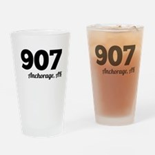 Area Code 907 Anchorage AK Drinking Glass