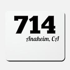 Area Code 714 Anaheim CA Mousepad