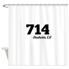 Area Code 714 Anaheim CA Shower Curtain