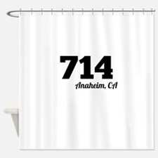 Area Code 714 Anaheim CA Shower Curtain