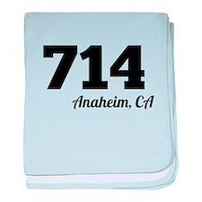 Area Code 714 Anaheim CA baby blanket