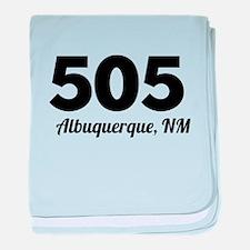 Area Code 505 Albuquerque NM baby blanket