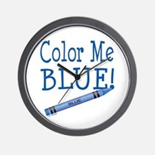 Color Me Blue! Wall Clock