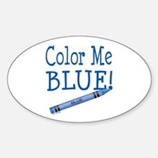 Color Me Blue! Oval Decal
