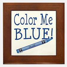 Color Me Blue! Framed Tile