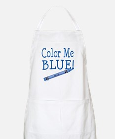 Color Me Blue! BBQ Apron