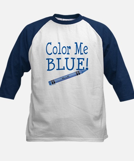 Color Me Blue! Kids Baseball Jersey