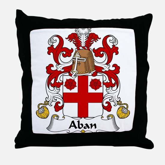 Aban Family Crest Throw Pillow
