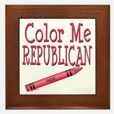 Color Me Republican! Framed Tile
