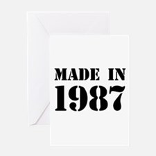 Made in 1987 Greeting Cards