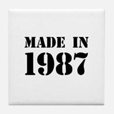 Made in 1987 Tile Coaster