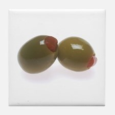 Green Olives Tile Coaster