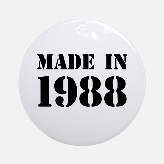 Made in 1988 Ornament (Round)