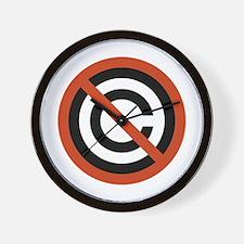 No Copyright Wall Clock