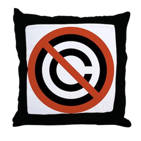 No Copyright Throw Pillow