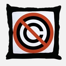 No Copyright Throw Pillow