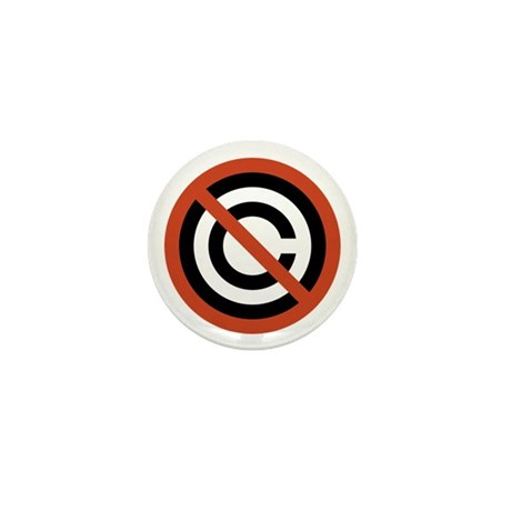 No Copyright Mini Button