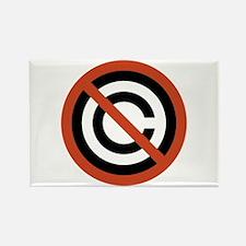 No Copyright Rectangle Magnet