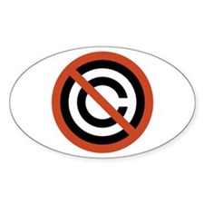 No Copyright Oval Decal