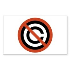 No Copyright Rectangle Decal