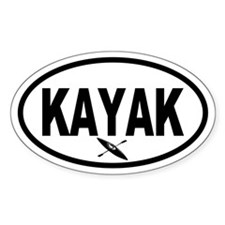 Kayak Oval Decal