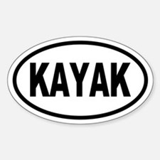 Basic Kayak Oval Decal