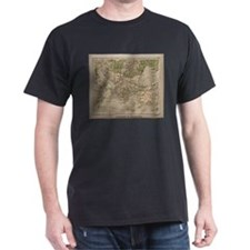 Vintage Physical Map of Greece (1880) T-Shirt
