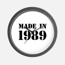Made in 1989 Wall Clock
