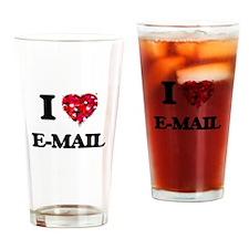 I love E-MAIL Drinking Glass