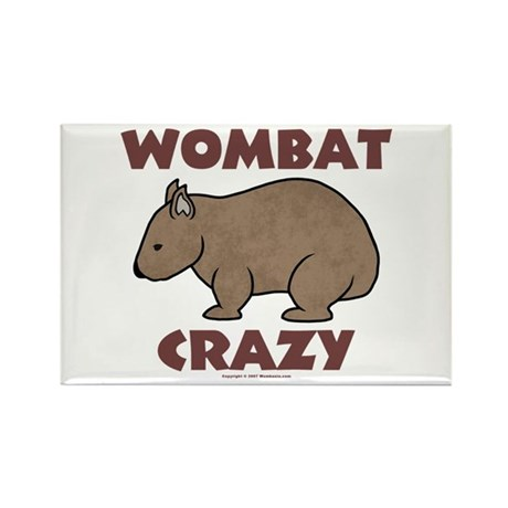 Wombat Crazy III Rectangle Magnet (100 pack)