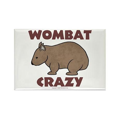 Wombat Crazy III Rectangle Magnet