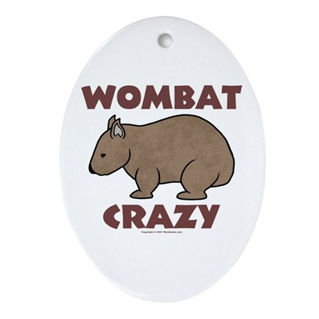 Wombat Crazy III Oval Ornament