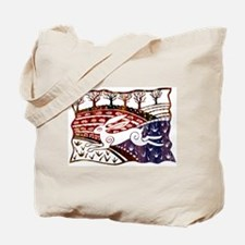 Hare in Fields Tote Bag