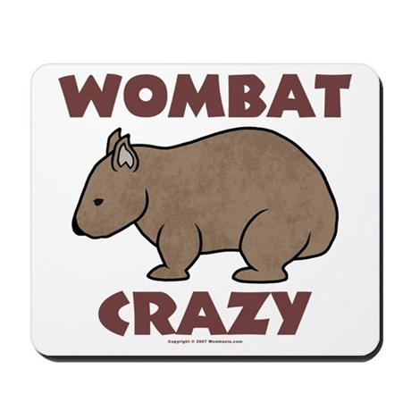 Wombat Crazy III Mousepad