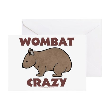 Wombat Crazy III Greeting Card