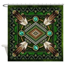 Native American Style Tapestry 2 Shower Curtain