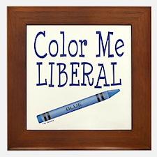 Color Me Liberal! Framed Tile