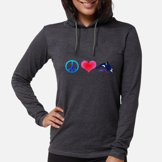 Peace Love Orca Long Sleeve T-Shirt