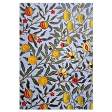 Vintage design, Fruit, by William Morris Canvas Art