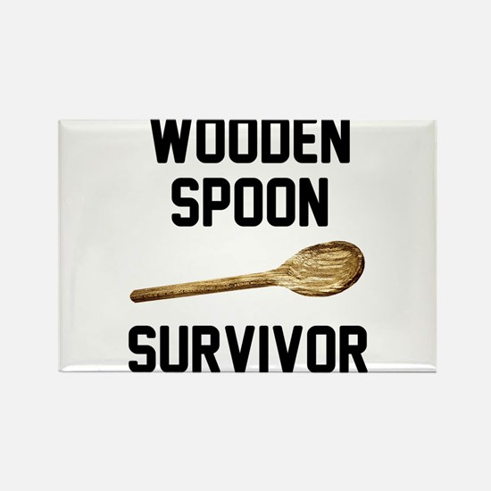 Wooden Spoon Survivor Rectangle Magnet