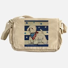 America Westie Messenger Bag