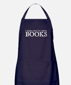 bookswhi.png Apron (dark)