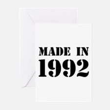 Made in 1992 Greeting Cards