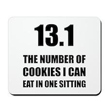 Cookies I Can Eat Half Marathon Mousepad