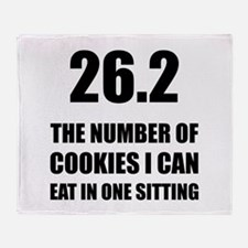 Cookies I Can Eat Marathon Throw Blanket