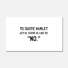 Hamlet Quote Car Magnet 20 x 12