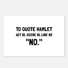 Hamlet Quote Postcards (Package of 8)