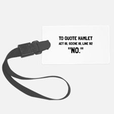 Hamlet Quote Luggage Tag